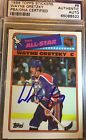 1988-89 Topps Stickers WAYNE GRETZKY AUTO On Card PSA DNA Certified Oilers
