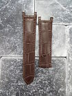 Leather Strap Brown Watch Band Deployment Buckle CARTIER PASHA 18mm 20mm 21mm