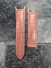 Leather Strap Pink Watch Band Deployment Buckle CARTIER PASHA 18mm 20mm 21mm
