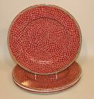 4 Pier 1 Italy Hand Painted Earthenware Mosaic Fruit 12.5 Inch Dinner Plates
