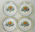 Vintage Lusterware Hand Painted Childs Toy Dishes Tea Set Floral Plates Lot of 4