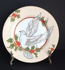 Christmas Holly Dove by Fitz and Floyd Salad Plate # 83 Fine Porcelain