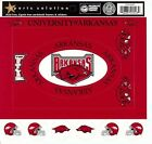 University of Arkansas Scrapbooking Stickers FRAMES