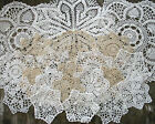 lot of 21p Hand Crochet Doilies 5 7 15 Wht  Natur VTG Wedding Tea Party NEW
