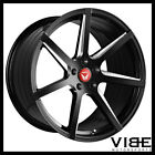 20 VERTINI WING 7 GLOSS BLACK CONCAVE WHEELS RIMS FITS LEXUS LS430