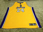NBA Authentic Kobe Bryant Los Angeles Lakers Jersey Adidas Size 56 Home Gold #24