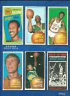 1970-71 Topps Basketball lot of 18 diff cards Hayes Silas Hudson