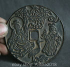 Old Chinese Dynasty Bronze longevity man Girl 12 Zodiac Year Current Money Coin