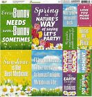 Reminisce Easter Spring Die Cut Scrapbooking Stickers 12x12 sheet