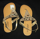 Twisted DAISY Style 493 Sz 10 Perforated Sandals Rhinestones Womens Shoes