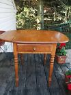 Vintage Authentic Conant Ball End Side Table Solid Rock Maple Early American