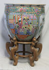 Oriental (Chinese) Porcelain fish bowl Planter W/ stand perfect condition (7361)