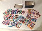 Baseball Cards -1987-1990 Topps-(241) Cards Plus Misc. Stickers with Tin box