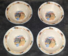 4 PURRFECT FRIENDS * KITTENS * Tienshan Stoneware Soup / Cereal Bowls