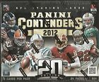 2012 Panini Contenders Football Factory Sealed Hobby Box - 5 Autographs Per Box
