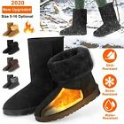 Winter Boots Womens Faux Fur Suede Mid Calf Warm Snow Fashion 5 10 US Size Boot
