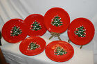 LOT OF 6 WAECHTERSBACH W GERMANY CHRISTMAS TREE HOLIDAY RED 10