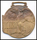 1930-1940s BEAUTIFUL VINTAGE * VICTORY * AMERICAN EAGLE BRASS WATCH FOB ~LQQK~