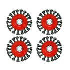 4 Pcs M14 Crew Twist Knot Wire Wheel Cup Brush Set for 4.5