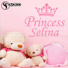 Crown Princess Custom Name Girls Room Removable Vinyl Wall Sticker Decals Mural