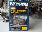 HO, 4-Unit Apartment Building Structure Kit - Walthers Cornerstone #933-3781