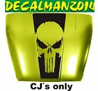 Jeep Blackout Punisher 3 vinyl hood decal Fits CJ5 CJ7 CJ8 Scrambler Renegade