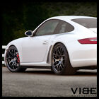 19 RUGER MESH FORGED BLACK CONCAVE WHEELS RIMS FITS PORSCHE 997 911 CARRERA S