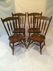 STONE SET OF 4 DINING CHAIRS MAPLE WINDSOR FLAT BACK STYLE (CLEAN)