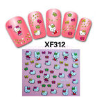 Cartoon Hello Kitty Design Nail Art Decals Manicure Nail Gel Tips Stickers
