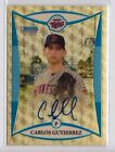 2008 Bowman Chrome Draft Carlos Gutierrez Superfractor Refractor Auto Rc (1 1)