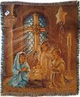 Manual Christmas Pageant Nativity Dona Gelsinger Fringed Tapestry Throw Blanket