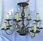 Vintage Spanish 10 Arm Crystal Chandelier needs TLC