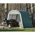ShelterLogic 10'x12'x8' Round Style Shelter in Green Transitional Shed