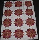 12 Quilt Blocks Squares MOTHERS BOUQUET Fall Colors Leaves and Berries