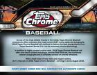 2016 TOPPS CHROME BASEBALL SEALED JUMBO HOBBY BOX 5 AUTOGRAPHS