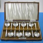 Ambercrombie Fitch 8 Silverplate Cafe Dialbe Cognac Burners Spoons with Case