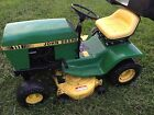 John Deere 111 lawn tractor riding mower with bagger!