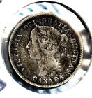 1892 Silver Canada 5 Cents Free S H