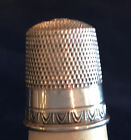 Antique Simons Bros.Co. Sterling Siilver Thimble with an Egg and Dart pattern