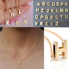 Fashion Womens Gold Plated Initial Alphabet Letter A Z Pendant Chain Necklace