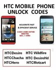 HTC Mobile unlock code for DesireChachaWildfireDesire HdM8 M7 M6 ALL MODEL