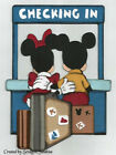 DISNEY Checking In Hotel MICKEY  MINNIE Premade Scrapbook Page Paper Piecing