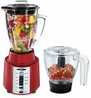 Oster Rapid Blend 8-Speed Blender With Glass Jar And Bonus 3-Cup Food Metallic
