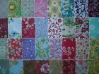 100 4 Assorted Quilt Fabric Squares Quilt Blocks Sew Charm Pack Crafts 341