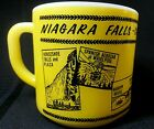 Vintage Federal Milk Glass Yellow Coffee Mug Cup Niagara Falls Canada
