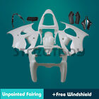 STY Fit Kawasaki 2000-02 ZX-6R ZX636 ZX-6RR Unpainted Fairing Bodywork Kit Set