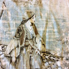 HD3690SYM Country French France Pastoral Toile de Jouy Linen Drapery Fabric