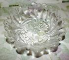 INDIANA GLASS CRYSTAL WILD ROSE CLEAR SERVING BOWL   EXC