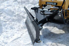 84 Skid Steer Hydraulic Angle Snow Blade Attachment  FFC Beat Winter Back