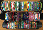 USA 1 SET Nepal Rolls Bead Glass Seed Bracelet crochet handmade bangle GIFT